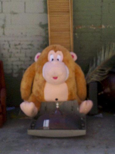 Large Stuffed Monkey